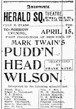pudd nhead wilson essays Pudd'nhead wilson mark twain pudd'nhead wilson literature essays are academic essays for citation these papers were written primarily by students and provide.